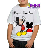 Camiseta Camisa Personalizada Festa Infantil Mickey Disney