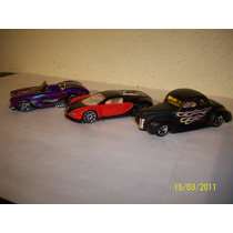 Hot Wheels, Lote De 2 Coches Ford Coupe ´40, Corvette ´58
