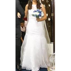 Vestido De Noiva Sereia - Lindo Em Perfeito Estado!