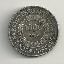 Réplica Moeda 1900 1000 Réis 4º Centenário Do Descobrimento