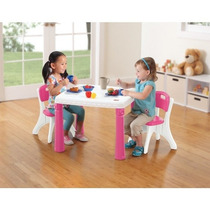 Step 2 Lifestyle Kitchen Table & Chairs Set Mesa + 2 Sillas
