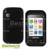 Funda De Silicon Negro Para Samsung Champ C3300