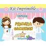 Kit Imprimible Primera Comunion Niña Y Niño Souvenirs