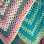 Mantilla Tejida Crochet Granny 80x80 + Regalo