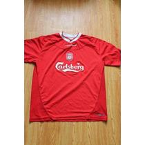 Jersey Reebok Del Liverpool Local Talla 42-44 Color Rojo