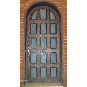Puerta Reticula Residencial De Herreria Rustica Fina. M2