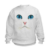 Playeras O Camiseta Cara Gato Blanco 100% Jinx Original