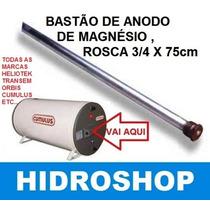 Bastão De Anodo De Magnésio Rosca 3/4x75cm Hidroshop