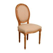 Cadeira Urbino Bege Em Madeira C/ Assento E Encosto Em Linho