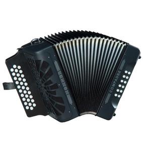 Acordeon Hohner Compadre Diat Gcf Negro Con Mochila A4822s