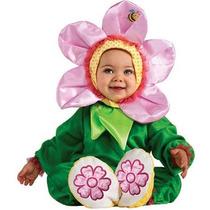 Disfraz Talla 12 A 18 Meses Flor Rosa Primavera Niña Bebe