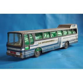 Micro Bedier Internacional Lata Juguete Antiguo Omnibus