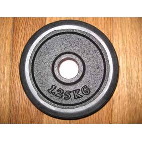 Disco De Pesa 1.25 Kgs Con Aro De Hule Gym Pesas Uno