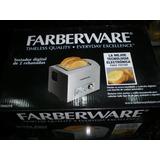 Tostadora Digital Faberware En Acero Inoxidable