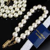 Collar Mujer Pulsera Aretes Perlas Mallorca Chapado En Oro