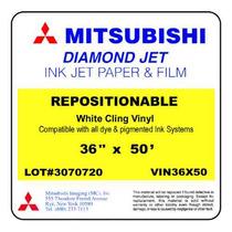 Vinil Blanco Reposicionable Calidad Fotográfica Mitsubishi