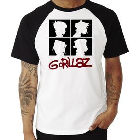 Camiseta Camisa Blusa Banda Gorillaz #2 Raglan Manga Curta