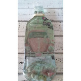 Botella Aplastada Vidrio Doble Decoupage Regaló Adorno Souve