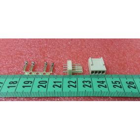 Conector Polarizado 4 Pines Rectos Incluye Pin Metalico