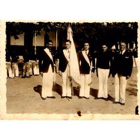 Foto Abanderados Escuela Patriótica Santa Fé 1938 Bandera