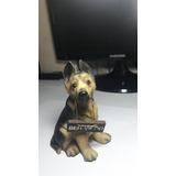 Cachorro De Resina Com Placa De Boas Vindas