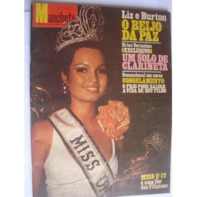 Manchete 1111 Ago 73 Miss U-73 Vence Filipina Marieta Severo