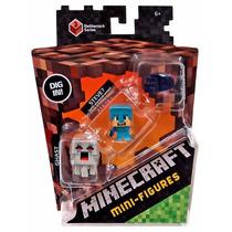 Minecraft Paquete 3 Mini Figuras 4 Modelos Series 3 Mattel