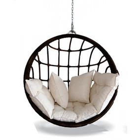 Cadeira De Balanço Decoração Fibra Sintética Jardim