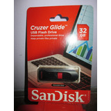Usb Flash Driver De 32 Gb Sand Disk Cruzer Glide Importado