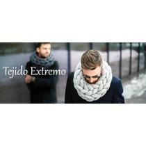 Cuello Merino -bufanda Infinita -tejido Extremo Super Gorda
