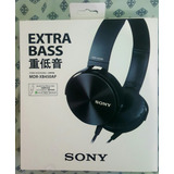 Headfone Sony Extra Bass Preto