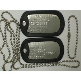 Dog Tags. Placas Metálicas De Identificacion Militar