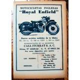 Moto Royal Enfield 1946 Publicidad Buenos Aires Coleccion
