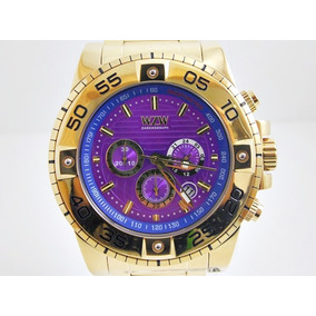 Relógio Masculino Dourado - Wzw