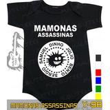 Body Mamonas Assassinas Preto Infantil Bebê Rock Metallica