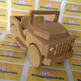 Carro De Madeira - Jeep