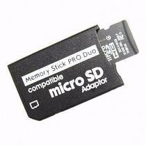 Adaptador Memory Stick Pro Duo Cartão Câmera Sony Psp