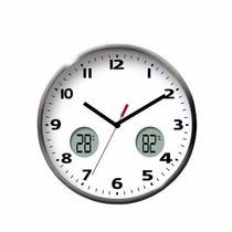 Reloj De Pared 30cm Temperatura Humedad Digital 8812thwh