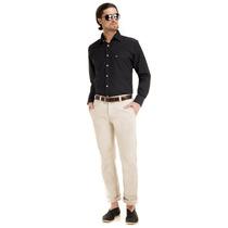 Camisa Preta Slim Fit Social Maquinetada Buon Giorno Elias