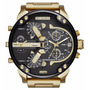 Relogio Diesel Mega Chief Ouro Only The Brave Original 7333