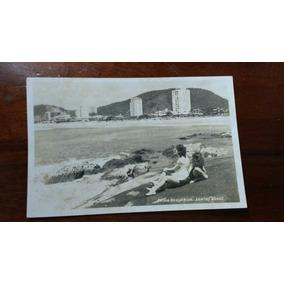 Antigo Cartão Postal Da Praia Do Guaruja Sp
