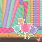 Kit Imprimible Pack Fondos Jardin Flores Multicolor Clipart
