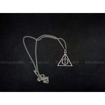 Collar Reliquias De La Muerte Harry Potter Fijo Envio Gratis