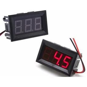 Kit C/ 12 Voltímetro Digital Medidor Bateria Som Automotivo