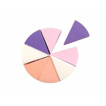 Kit 8 Esponja Maquiagem Formato Triangulo Queijo Cor Variada