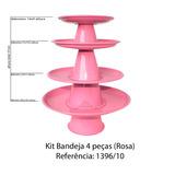 Suporte Prato Porta Doces Cupcakes Salgados Rosa