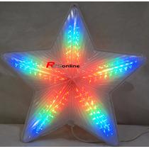 Estrela Pisca Pisca Natal Led 50cm Bivolt Colorido