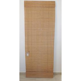 Cortina Horizontal De Bambu Persiana Imbuia 1,20 L X 1,60 A