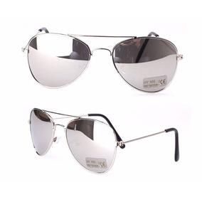 bfd5c1335d7b8 Óculos De Sol Aviador Infantil Prata Criança Menino Menina