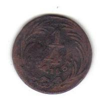 1 Cuarto Real Cuartilla 1831 México República Mexicana - Hm4